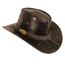 Vera Pelle Cappello da cowboy Cappello western - Buff Antico Split - TAGLIA L