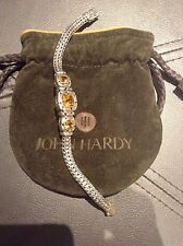 John Hardy Citrine Three-Station Bracelet