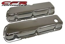 1986-95 FORD 302 5.0L FOX-BODY MUSTANG STEEL VALVE COVERS - CHROME