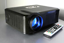 Open Box 720P Fugetek HD LCD Video Projector USB/HDMI 2500 Lumens 1280 x 800