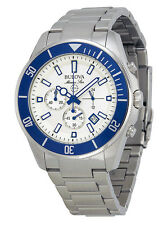 Bulova 98B204 Men's Marine Star Stainless Steel White Dial Chronograph Watch