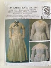 LAUGHING MOON SEWING PATTERN 114 LADIES 1840-1852 VICTORIAN DRSSES UNCUT 6-26