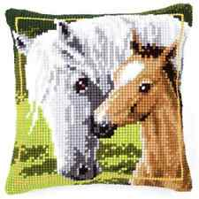 Horse/Pony - Large Holed Tapestry Canvas Cushion Kit/Printed Chunky Cross Stitch