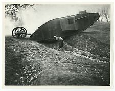 World War I - Vintage 8x10 Publication Photograph - Testing of Tanks