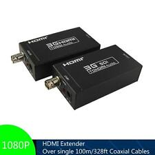 UP to 100m, HDMI Extender Over Single Coaxial Cables 1080P, HDMI-SDI & SDI-HDMI