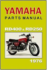 YAMAHA Parts Manual RD400 RD250 1976 RD400C RD250C Replacement Spares Catalog