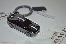 COACH METAL CAR KEY FOB KEYRING KEYCHAIN F64255 GIFT BOX DUST BAG NWT Authentic