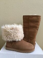 UGG CLASSIC TALL ALEXI CHESTNUT SHEEPSKIN BootS US 8 / EU 39 / UK 6.5 - NIB