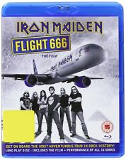 "IRON MAIDEN ""FLIGHT 666 THE FILM"" BLU RAY NEU"