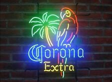 New Style Corona Extra Parrot Bird Left Palm Tree Neon Sign Beer Bar Light 17X14