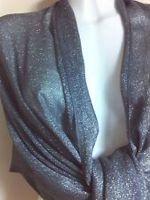 NEW GLITTER SCARF SILVER SCARVES SHAWLS STOLE SHAWL PASHMINA WRAP PARTY COVER UP