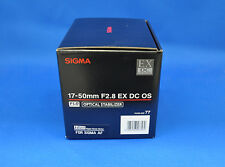 Sigma 17-50mm F2.8 EX DC OS HSM Zoom Lens For Sigma Japan model New
