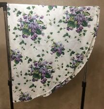 Waverly Garden Room Cloth Table Round SWEET VIOLETS Heirloom Collection 70 X 70