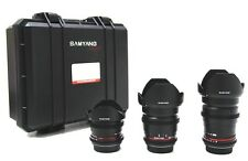 SAMYANG VDSLR Cinema Kit 3 (8mm, 16mm, 35mm), objective für Canon