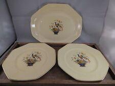 Vintage Salem ANTIQUE Porcelain/Ivory Gold OCTAGON DINNER PLATE/ Pheasant Bird
