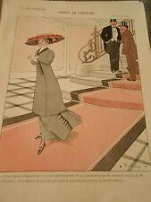 L'esprit de l'escalier c'est la maitresse de la maison Print Art Déco 1909