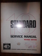 Standard Ten Service Manual Revised Edition 1955-58 Part 41 Technische Daten