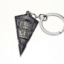 New Star Wars Movie Star Destroyer Silver Metal Keyring Keychain