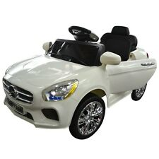 6V Kids Ride On Car RC Remote Control Battery Powered w/ LED Lights MP3 White