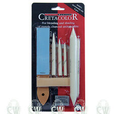 Cretacolor Artist Drawing Accessory Set.Paper stumps,eraser & stencil eraser etc