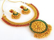 One Gram Gold Plated Necklace Set-South India Jewelry-Temple Jewellery- JWOG94