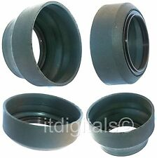 49mm Universal Rubber Lens Hood Screw-in 3 Stage T-W-N Sun Shade 49 mm Asian