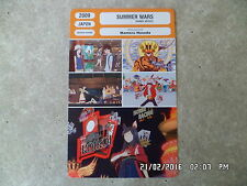 CARTE FICHE CINEMA 2009 SUMMER WARS