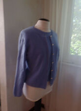DANTE PETITES BEAUTIFUL LIGHT BLUE CASHMERE TWIN SET SZ M EUC