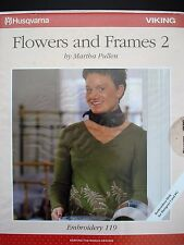 2001HUSQVARNA VIKING Embroidery 119 Floppy Ecard Flowers and Frames 2 15 Designs