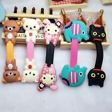 Lovely Cat Earphone Headphone Data Cable Winder Cord Wrap Organizer Style Trendy