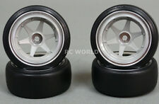 Yokomo 1/10 RC Car WHEELS RIMS 6 -SPOKE 12MM Drift TW-1413NS w/ DRIFT TIRES 4pc