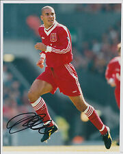 Stan COLLYMORE Signed Autograph 10x8 Photo AFTAL COA Liverpool Legend RARE