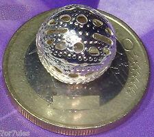 25 Bolas Metálicas Plateadas Filigrana 12mm T73A Filigree Beads Plated