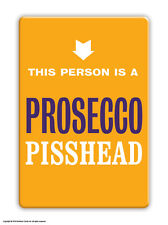 Brainbox Candy rude funny 'Prosecco Pisshead' fridge magnet cheap gift present