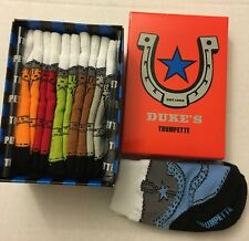TRUMPETTE Dukes Cowboy Baby Boy Socks 0-12M NIB Multi Color New 6 Pairs
