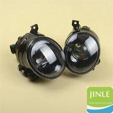 L+R Front Convex Lens LED Fog Light Lamp W/9006 For VW Jetta Golf MK5 Rabbit Eos