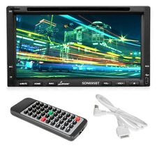 "Lanzar 7"" Double-DIN Bluetooth DVD CD USB/SD AM/FM Receiver + iPod Connector"