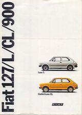 FIAT 127 900 L & CL 1977 ORIGINALE FRANCESE FOLDOUT SALES BROCHURE No. 99520072