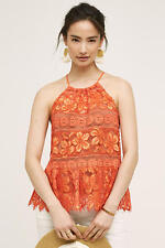 NWT Sz S Anthropologie Mandarine Halter Tank Top Tracy Reese Blouse Size Small