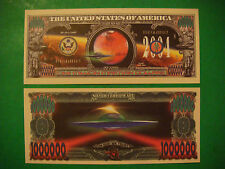 ALIEN UFO Martians Space Ship: $1,000,000 One Million Dollar Bill: United States