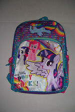 "MY LITTLE PONY BACKPACK GIRLS 16"" SCHOOL BACKPACK NWT!"