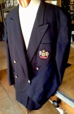 Vintage GUCCI Dark Blue Wool Blend Double Breasted Blazer Italy - Fabulous!