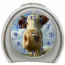 Funny Cow Table Desk Alarm Clock Night Light h0084