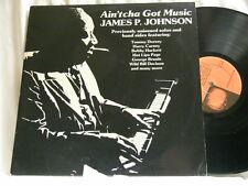 JAMES P JOHNSON Ain'tcha Got Music Harry Carney LP Sidney Bechet Pops Foster