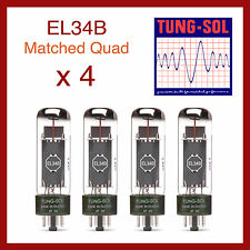 Tung-Sol EL34B New Production Power Vacuum Tube - Matched Quad - 4 Pieces