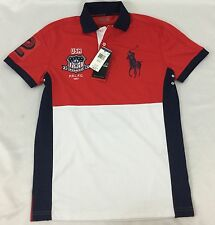 Ralph Lauren Men's Polo Sport Shirt USA New With Tags Red White Size M