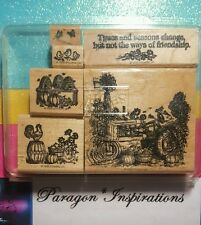 READ Stampin Up TIMES & SEASONS Rooster Chicks Vintage Tractor Harvest Fall