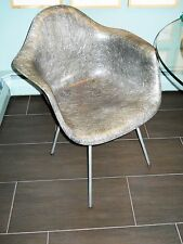 Eames Zenith Herman Miller X Base Rope Edge Elephant Gray Fiberglass CHAIR MCM