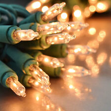 Clear Green Wire Twinkle Christmas Lights Random Twinkle - 35 Bulbs 17' total