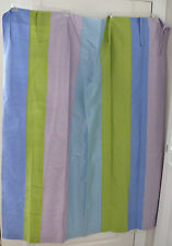 One Pottery Barn Silk Tie Top Cotton Lined Curtain Panel Purple Blue Green Dorm